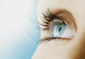 Image of female blue eyes after laser eye surgery