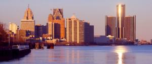 Large image of the Detroit skyline.